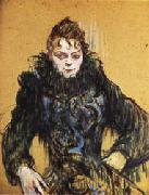 Woman with a Black Boa Henri de toulouse-lautrec